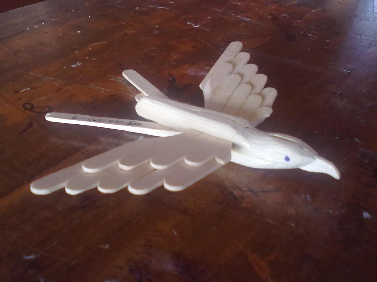 Bentuk Burung dengan Badan dan Kepala yang sudah dihaluskan